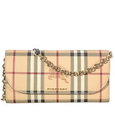 Burberry Haymarket Check and Leather Wallet - Black