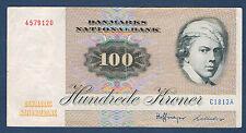 DINAMARCA - 100 CORONAS Pick nº 51a. de 1972. en TB. 4579120 C 1813 A