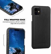 iPhone 11 Case Luxury Premium Genuine Leather Ultra Slim Hard Back Cover Black