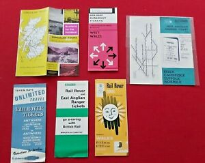 RAILWAY EARLY GUIDES, BROCHURE, LEAFLETS c.1960's Rail Rover Tickets, Runabout