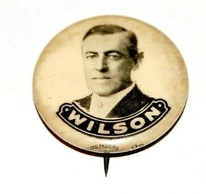 1912 WOODROW WILSON 7/8 presidential campaign pin badge pinback button political