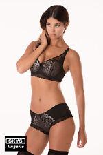 VANESSA ensemble soutien-gorge push-up et boxer noir et beige taille 95C / L