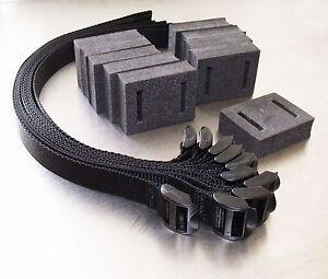 """10-pack of 45cm (18"""") Ladderloc Buckle Foam Spacer Tree Ties Black - Adjustable"""