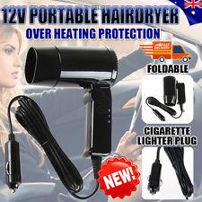 Portable Hairdryer 12V Hair Dryer Dry Glass Defroster Car Caravan Camping Travel