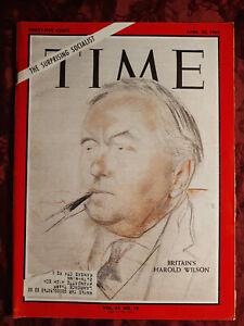 TIME Magazine April 30 1965 4/30/65 BRITAIN HAROLD WILSON
