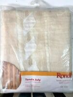 Tenda tendone July Jacquard stropicciato 150x280 cm colore natural bianco oro