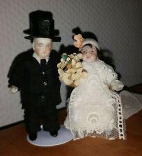 Par de novia boda Zorrilla dama señor puppenstubenpuppen miel porcelana