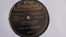 Cow Cow Davenport - 78rpm single 10-inch – Brunswick #80022 Cow Cow Blues