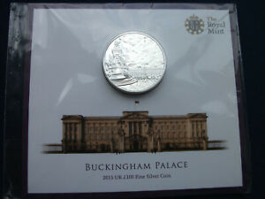 GREAT BRITAIN £100 SILVER COIN 2015 BUCKINGHAM PALACE .999 Fine Silver