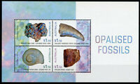 Australia Minerals Stamps 2020 MNH Opalised Fossils Opal Nature 4v M/S