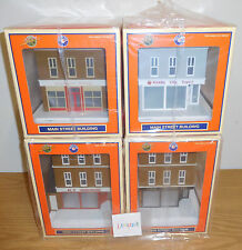 LIONEL 4 CITY BUILDINGS O SCALE TRAIN ACCESSORY LOT TOY STORE BAKERY HARDWARE