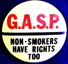 GROUP AGAINST SMOKING & POLLUTION-EARLY ANTI SMOKING ACTIVISTS - ORIGINAL SCARCE