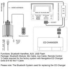 Mazda 3 5 6 323 Protege Tribute CX7 B BTA Handfree Bluetooth Interface Adaptor