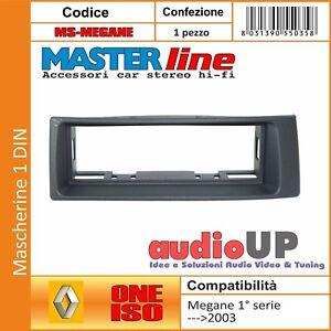 MASCHERINA AUTORADIO 1 DIN RENAULT MEGANE FINO AL 2003. COLORE MASCHERINA GRIGIO