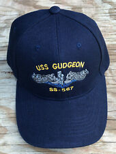 USS Gudgeon SS-567 Ball Cap Embroidered Submarine Dolphins Diesel Boat DBF Hat