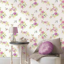 AMAYA OISEAUX papier-peint Holden décor - Rose & Citron Vert - 11482 NEUF floral