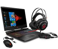 "NEW HP Omen Gaming 15"" FHD Intel i7-9750 256GB SSD 16GB RAM 1660Ti Mouse+Headset"