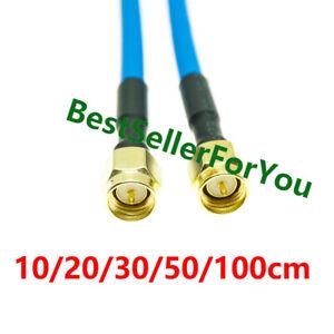 New SMA Male to SMA Male Plug Straight RF Coax Pigtail Semi-rigid Cable RG402 B