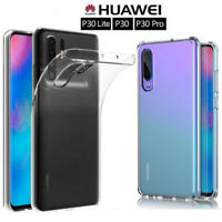 For Huawei P30Pro P30Lite Case Soft Silicone Shockproof Clear TPU Back Cover UX