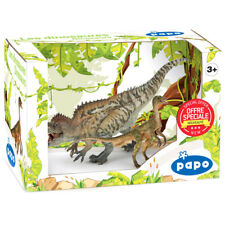 PAPO Dinosaurs Acrocanthosaurus & Compsognathus Two Figure Pack - 80104 - NEW