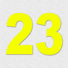 CAMS Window Race Number Decals x2 DayGlo Yellow Motor Racing #M015