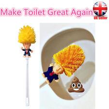Donald Trump Toilet Brush Funny Gag Gift Bowl Brush Handmade Christmas Toy UK%%