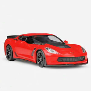 1:24 2017 Chevrolet Corvette Z06 Model Car Diecast Vehicle Collection Red Gift