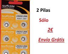 AG4 377A LR66 Pilas alcalinas botón 2 und. Alkaline Button Cell Battery Suncom