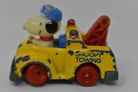 Small Vintage Collectible 1983 Snoopy In A Towing Car Toy Made In Hong Kong 6cm