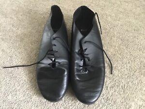 Black Jazz Shoes Size 4