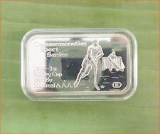 "RARE !! 1 oz .999 silver ""ENGELHARD SPORT: HOCKEY GAME"" 5,000 Mintage Bar H162"