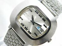 SEIKO LORD MATIC 5606-5010 AUTOMATIC DAY-DATE SILVER MEN'S VINTAGE WATCH JAPAN