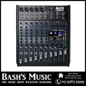 Alto Professional LIVE802 8 Channel Mixer with Effects and USB
