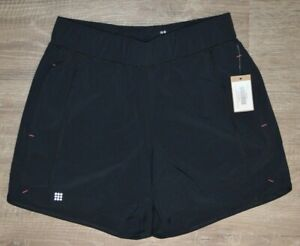 """New Title Nine Updated Anti Runner Short 5"""" Solid Black Shorts Size S Pockets"""