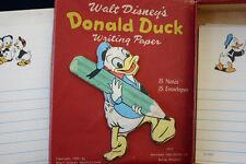 Vintage 1949 Disney Donald Duck Writing Paper Mib