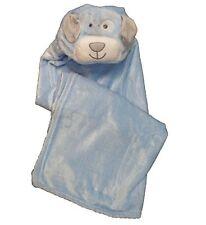 Camicia Supersoft Superior Quality VELOUR BAMBINO CON CAPPUCCIO WRAP-Blu cucciolo Design