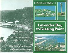 LAVENDER BAY to KISSING POINT VAUCLUSE HOUSE ROCKS CONVICTS Du Faur Gibbs 9 Bks