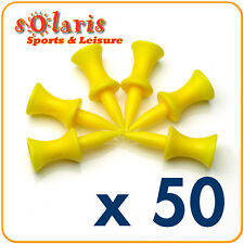 50 x Plastic Golf Step Tees 34 mm (1 3/8 inches)Yellow