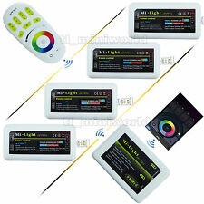 WiFi+Remote+4x RGB led Controller 2.4G RF MiLight 4Zone Android IOS Phone Dimmer