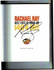 Rachael Ray signed Best Eats In Town On $40 A Day 1st printing softcover book