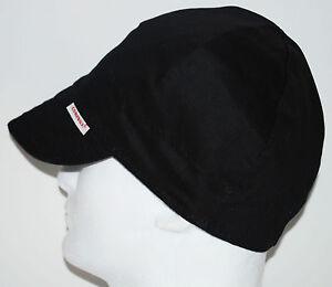NWT Welding Cap Welders Hat Comeaux Caps Solid Black Reversible 2000 Sized
