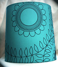 """Teal 9"""" Drum ceiling Pendant or Table lampshade"""