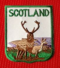 SCOTLAND SCOTTISH HIGHLANDS RED DEER STAG WILDLIFE BADGE IRON SEW ON PATCH
