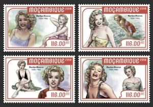 Mozambique - 2018 Marilyn Monroe - Set of 4 Stamps - MOZ18204a