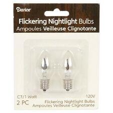 C7 CANDLE BULB, 2 pack Flickering Night Light Replacement Bulbs #6205-07
