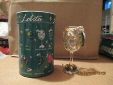 Lolita Mini Hand Painted Wine Glass Ornament - Jingle Bells - New In Box