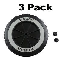 "3 Weber Grill Part # 63050 8"" Wheel and Cap - Gas and Charcoal Kettle Grills"