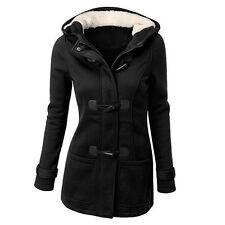 Womens Winter Trench Parka Hooded Coat Jacket Tops Outwear Winter Lady Overcoat