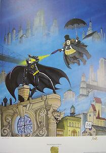 1992 PENGUIN'S REVENGE. Signed by BOB KANE, COA,  AP 27/125 Batman.
