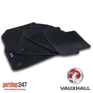 GENUINE OE VAUXHALL ASTRA J MK6 VELOUR BLACK TAILORED FRONT/REAR FLOOR CAR MATS